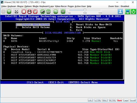 Tutorial Mikrotik: [Mikrobits ETNA] Hotswap Intel Raid